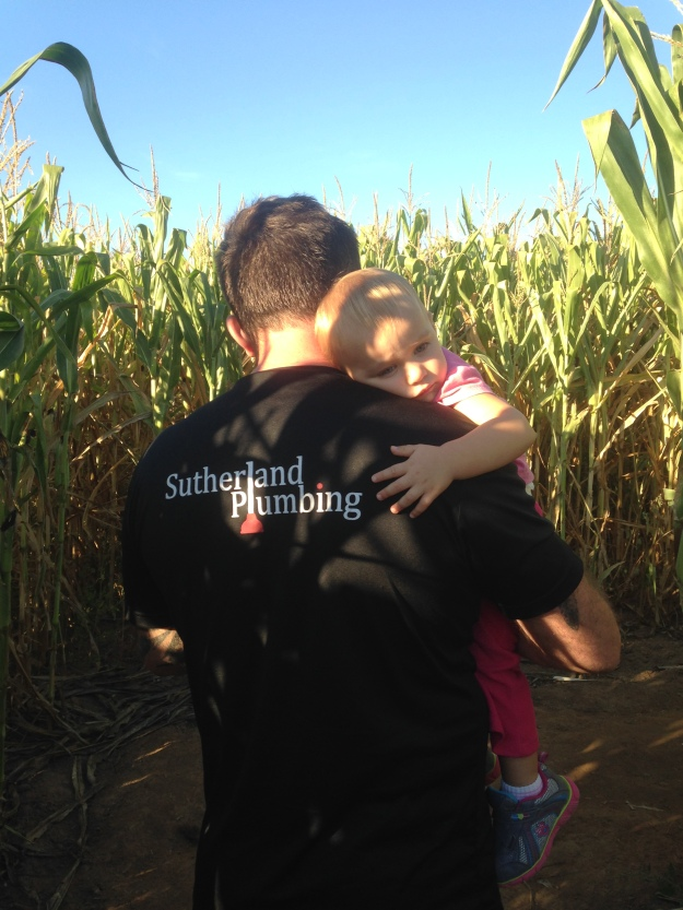 Ti & daughter in Corn Maze